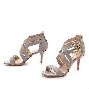 Pour La Victoria Gray Strappy Sandals Size 6.5